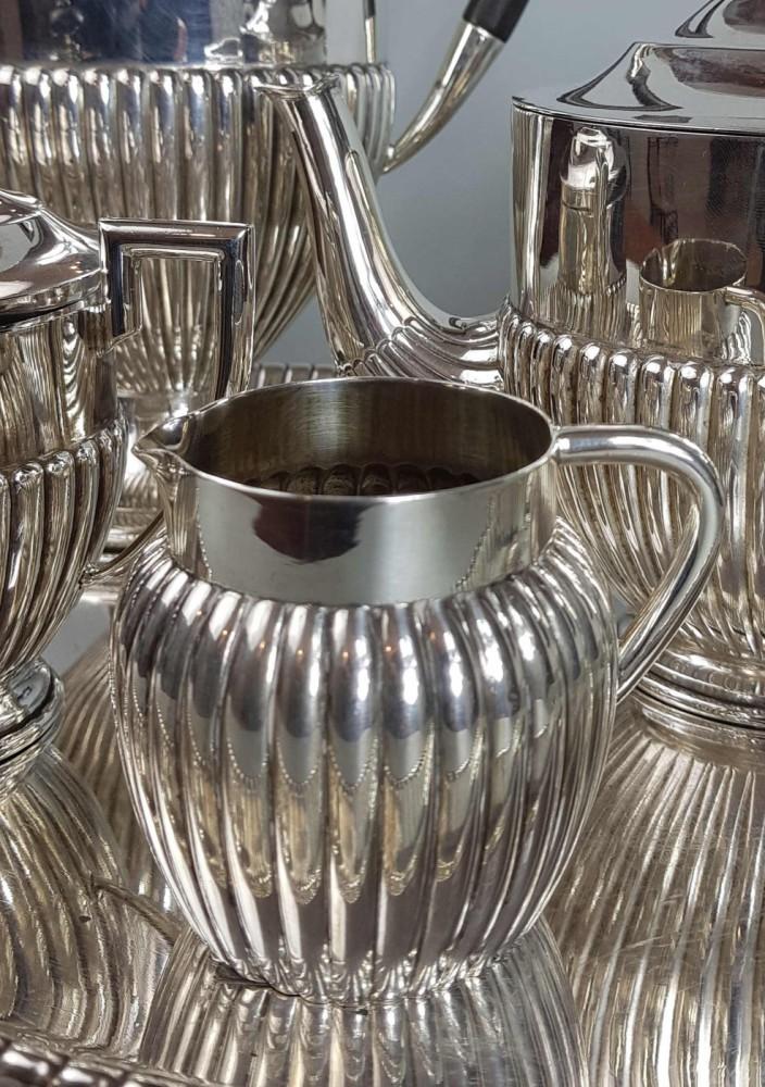 Serwis śniadaniowy, XIX/XX w, srebro