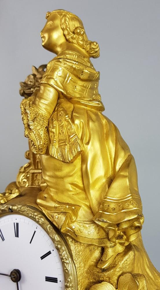 Zegar XIX w., złocony
