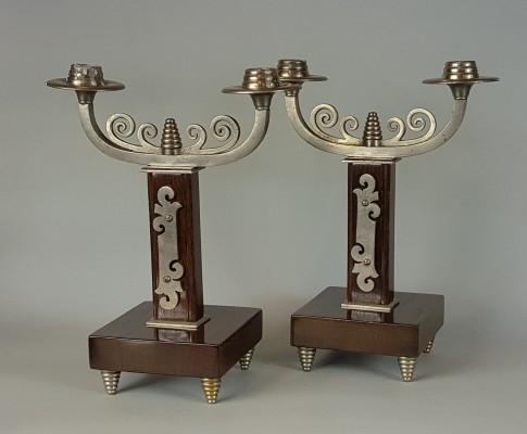 Para świeczników Art Deco