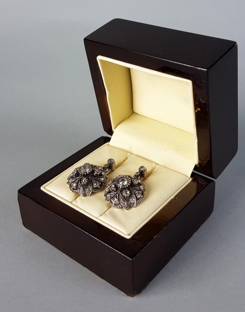 Kolczyki złoto-srebrne