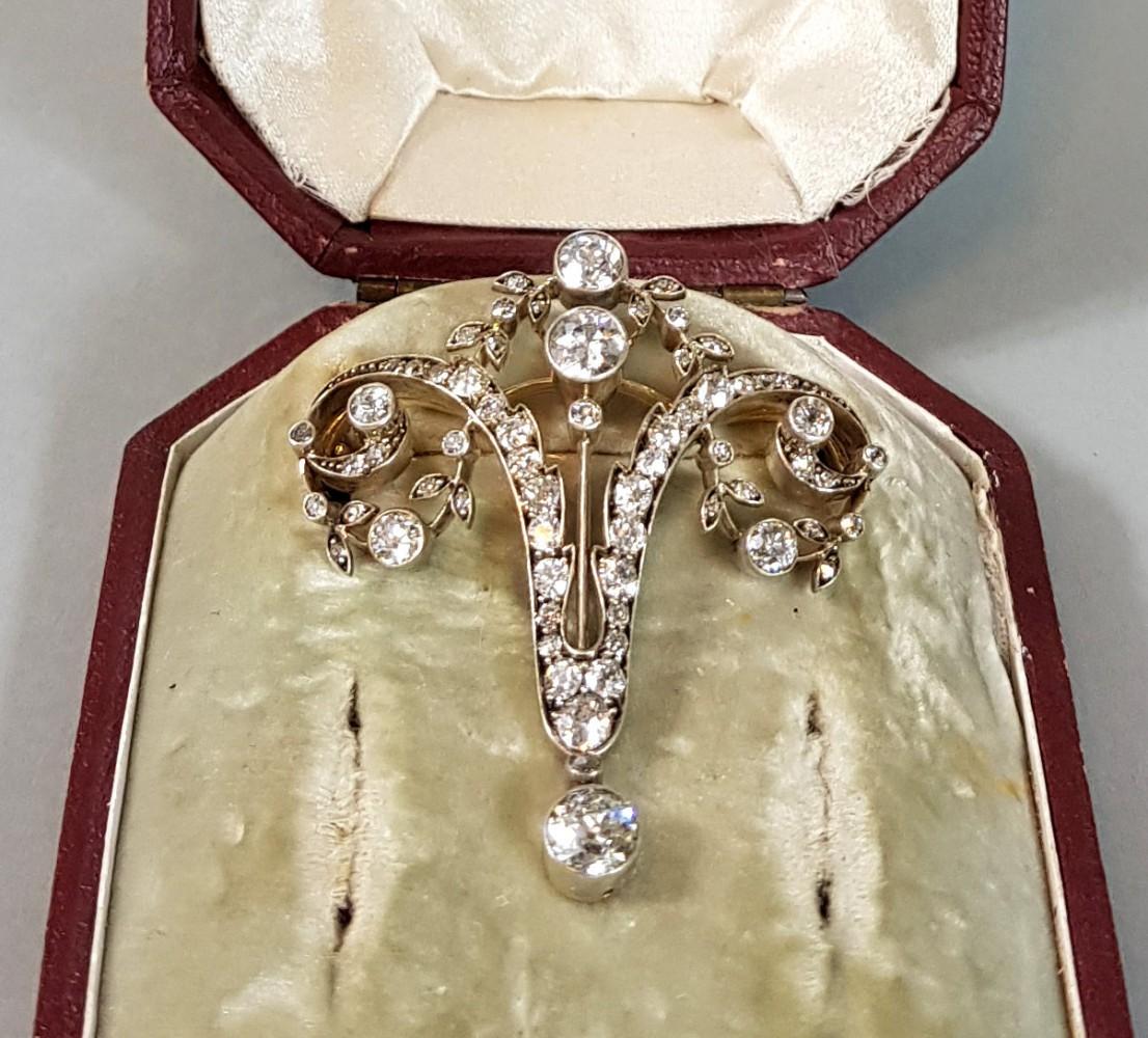 Broszka złoto-srebrna - Austro-Węgry