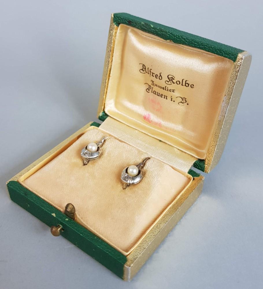 Kolczki z perłami