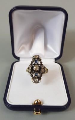 Pierścionek z diamentami XIX w.